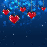 Red Bright Hearts Royalty Free Stock Photography