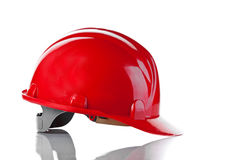 the red bright helmet Stock Photos