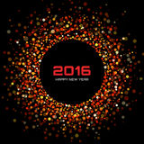 Red Bright New Year 2016 Background. Vector illustration Royalty Free Stock Images