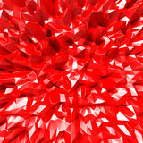 Red Bright Polygonal Mosaic Background Royalty Free Stock Photography