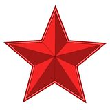 Red bright star Stock Image