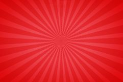 Red bright tones in a Fun Starburst. Starburst design in bright red tones. Abstract radial background. Great for striking designs stock illustration