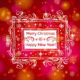 Red brightness background with label with text, ve Stock Images