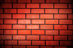 Red briks in wall Stock Images
