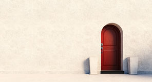 Red british house door Stock Images