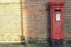 Red British mailbox Royalty Free Stock Image