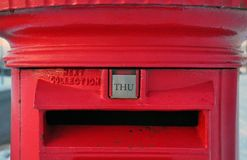 Red British Post Box Stock Photos