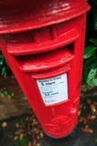 Red British post box Royalty Free Stock Photo