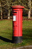 Red, British Royal Mail post box in the grounds of Newstead Abbey Stock Photos