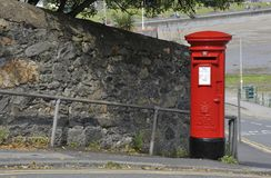 Red British street Post Box Royalty Free Stock Photography