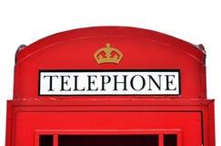 Red British telephone box Stock Photography