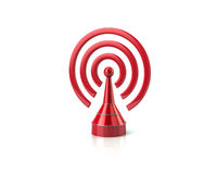 Red broadcasting icon Royalty Free Stock Photos