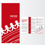 Red brochure. Business template design Royalty Free Stock Images
