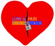 Red broken heart Stock Images