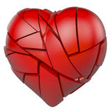 Red, broken heart Royalty Free Stock Photos