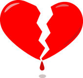 Red broken heart Stock Photo
