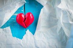 Red broken heart,.jpg Stock Image
