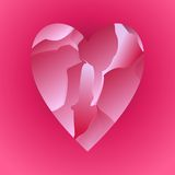 Red Broken Heart Royalty Free Stock Images