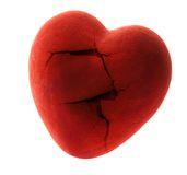 Red broken heart Stock Image