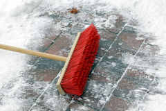 Red broom Royalty Free Stock Image