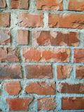 Red brown brick block wall background in restaurant Royalty Free Stock Images