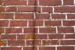 Red or brown brick texture at the building wall. Red or brown brick texture at the building wall Stock Photography