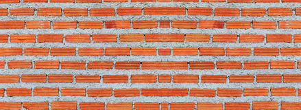 Red, Brown brick wall texture panorama stock photo