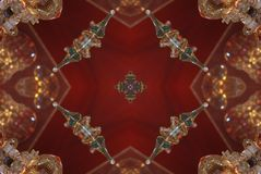 red with brown bright oriental ornament Royalty Free Stock Photos