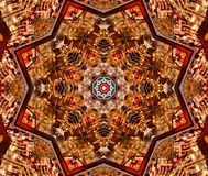 red with brown bright oriental ornament Royalty Free Stock Photography