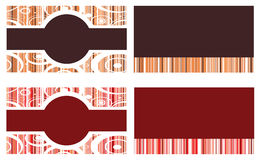 Red Brown Business Cards Stock Photography