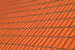 Red brown ceramic roof tiles pattern background Stock Photos