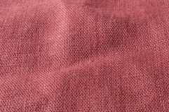 Red brown coarse linen. Close up of red brown coarse linen Stock Images