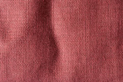 Red brown coarse linen. Close up of red brown coarse linen Stock Photos