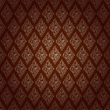 Red Brown Colors Damask Style Pattern design. Original Pattern a Royalty Free Stock Photography