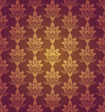 Red Brown Colors Flower Pattern Design. Korean traditional Patte Royalty Free Stock Photo