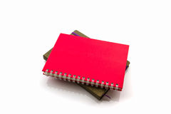 Red and brown diary book. Royalty Free Stock Photography