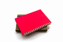 Red and brown diary book. Royalty Free Stock Photos