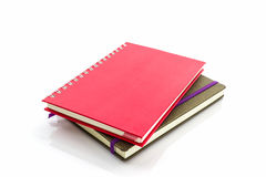 Red and brown diary book. Stock Images