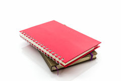 Red and brown diary book. Stock Photography