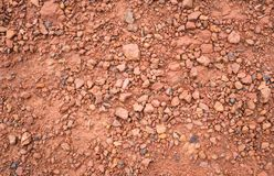 Red Brown Gravel or Soil Texture Background for Design Close up. Red Brown Gravel or Soil Texture Background for Design. Real gravel texture background and small royalty free stock images