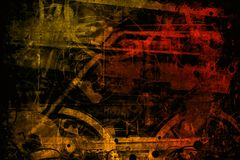 Red brown industrial machines background. Texture Royalty Free Stock Image
