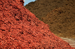 Red and Brown Mulch Royalty Free Stock Photography