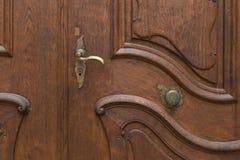 Red_brown_ornament_door 库存照片