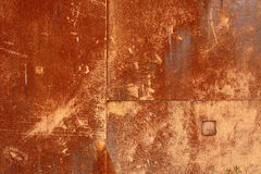 Red and brown rust on metal Stock Images
