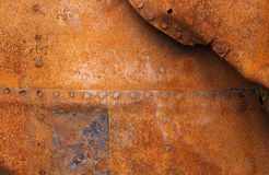 Red and brown rust on metal Stock Photo