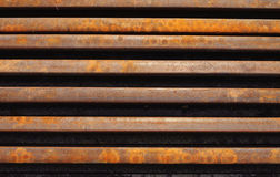 Red and brown rusted railway steel. Stock Images