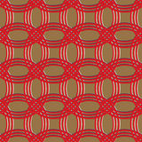 Red and brown chain armor pattern Royalty Free Stock Photography