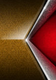Red Brown and Silver Luxury Floral Background Stock Photo