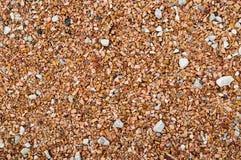 Red brown small gravel. Red brown small gravel pavement Bolgar sity, Russia stock photography