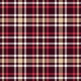 Red and brown tartan seamless vector pattern. Checkered plaid texture. Geometrical simple square dark background for fabric, textile, cloth, clothing, shirts Royalty Free Stock Images